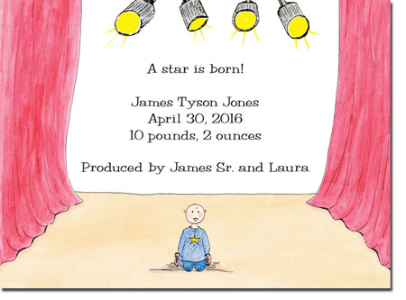 Blue Mug Designs Birth Announcements - Stage Girl