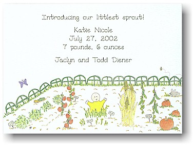Blue Mug Designs Birth Announcement - Littlest Seedling