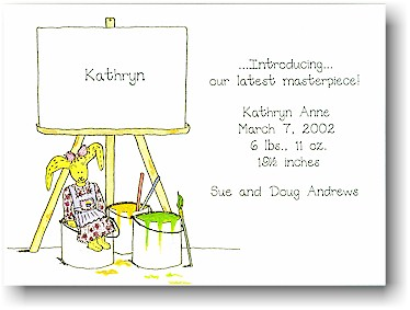 Blue Mug Designs Birth Announcement - Little Masterpiece