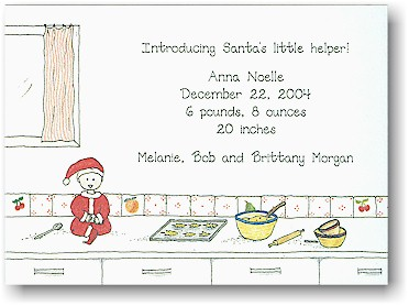 Blue Mug Designs Birth Announcement - Holiday Treat