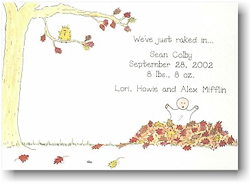 Blue Mug Designs Birth Announcement - Fall Fete