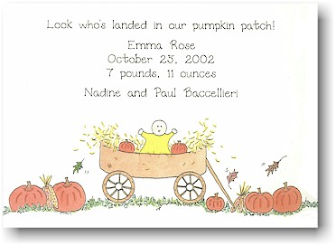 Blue Mug Designs Birth Announcement - Pumpkin Patch