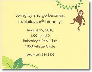 Boatman Geller - Monkey Birth Announcements/Invitations