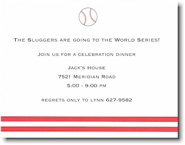 Boatman Geller - Baseball Birth Announcements/Invitations