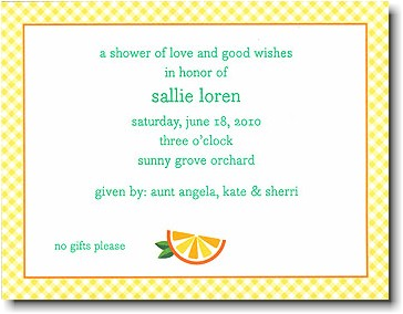 Boatman Geller - Orange Birth Announcements/Invitations
