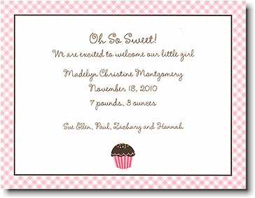 Boatman Geller - Cupcake Birth Announcements/Invitations