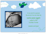 Boatman Geller - Airplane Photo Birth Announcements & Invitations
