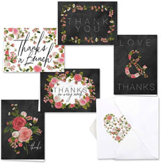 Chalkboard Floral Thank You Set by Masterpiece Studios