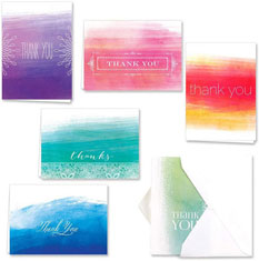 Ombre Watercolor Thank You Set by Masterpiece Studios