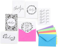 Floral Silhouette Thank You Set by Masterpiece Studios