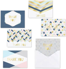Geo Shapes Thank You Set by Masterpiece Studios