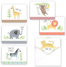 Jungle Animals Thank You Set by Masterpiece Studios