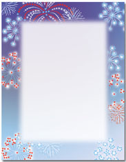 Imprintable Blank Stock - Patriotic Stars Letterhead