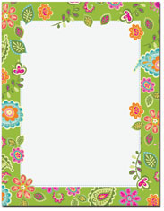 Imprintable Blank Stock - Paisley Flowers Letterhead by Great Papers
