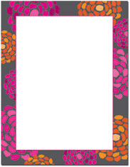 Imprintable Blank Stock - Bright Dahlias Letterhead by Great Papers