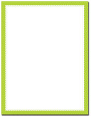 Imprintable Blank Stock - Lime Scalloped Dots Letterhead by Great Papers