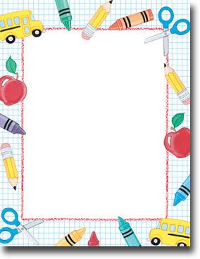 Imprintable Blank Stock - School Stuff Letterhead by ...