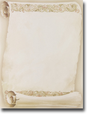 Imprintable Blank Stock - Florentine Scroll Letterhead by Masterpiece Studios