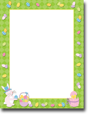 Imprintable Blank Stock - Easter Time Letterhead by Masterpiece Studios