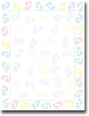 Imprintable Blank Stock - Baby Feet Letterhead by Masterpiece Studios