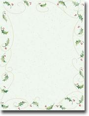 Imprintable Blank Stock - Holly Bunch Letterhead by Masterpiece Studios