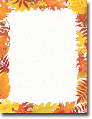 Imprintable Blank Stock - Fall Foliage Letterhead by Masterpiece Studios
