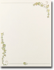 Imprintable Blank Stock - Ivy Border Letterhead by Masterpiece Studios
