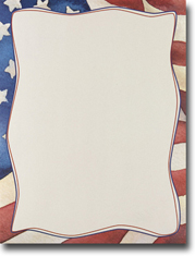 Imprintable Blank Stock - Patriotic Letterhead by Masterpiece Studios