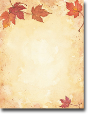 Imprintable Blank Stock - Fall Leaves Letterhead by Masterpiece Studios