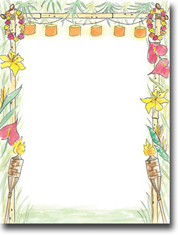 Imprintable Blank Stock - Luau Letterhead by Masterpiece Studios
