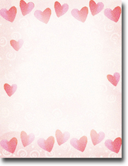 Imprintable Blank Stock - Red Hearts Letterhead by Masterpiece Studios