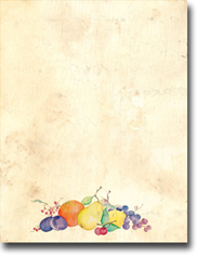 Imprintable Blank Stock - Crackled Fruit Letterhead by Masterpiece Studios