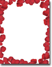 Imprintable Blank Stock - Roses Are Red Letterhead by Masterpiece Studios
