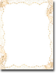 Imprintable Blank Stock - Gold Party Letterhead by Masterpiece Studios