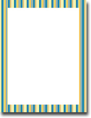 Imprintable Blank Stock - Bold Stripes Letterhead by Masterpiece Studios