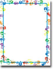 Imprintable Blank Stock - Baby Handprints Letterhead by Masterpiece Studios