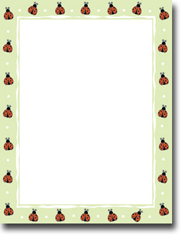 Imprintable Blank Stock - Ladybugs Letterhead by Masterpiece Studios