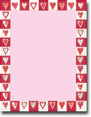 Imprintable Blank Stock - Cutout Hearts Letterhead by Masterpiece Studios