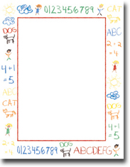 Imprintable Blank Stock - Crayon Doodle Letterhead by Masterpiece Studios