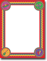 Imprintable Blank Stock - Cinco De Mayo Letterhead by Masterpiece Studios