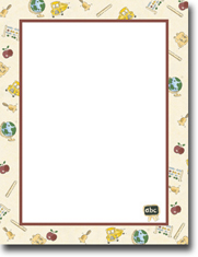 Imprintable Blank Stock - Elementary School Letterhead by Masterpiece Studios