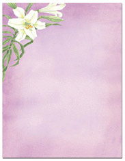 Imprintable Blank Stock - Easter Lily Letterhead by Masterpiece Studios
