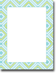 Imprintable Blank Stock - Bleu Squares Letterhead by Masterpiece Studios