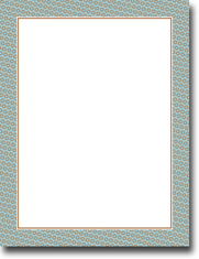 Imprintable Blank Stock - Blue & Brown Bolts Letterhead by Masterpiece Studios