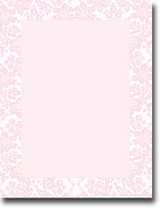 Imprintable Blank Stock - Blooming Pink Letterhead by Masterpiece Studios