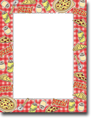 Imprintable Blank Stock - Pizza Party Letterhead by Masterpiece Studios