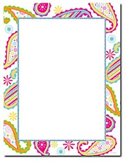 Imprintable Blank Stock - Patterned Paisley Letterhead by Masterpiece Studios