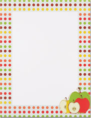 Imprintable Blank Stock - Apples Letterhead