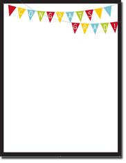 Imprintable Blank Stock - Grad Bunting Letterhead by Masterpiece Studios