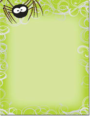 Imprintable Blank Stock - Green Spider Swirls Letterhead by Masterpiece Studios